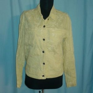 Chico's 0 jacket Yellow Embroidered S 4